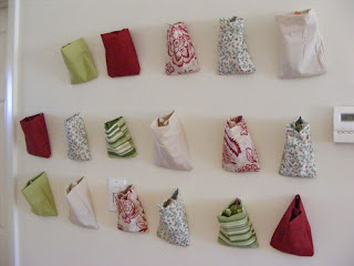 fabric pouches advent calendar tutorial