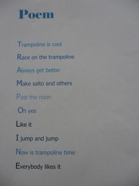 Regio Märwil Primary School in Switzerland: Sports poems ...