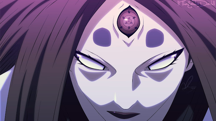 kaguya otsutsuki sharingan, byakugan and rinnegan eyes anime girl