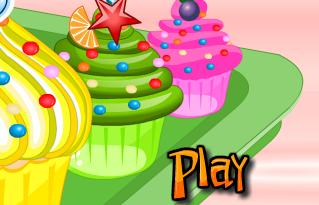 Game làm bánh cupcake, chơi game làm bánh online