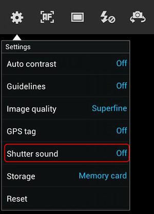 Cara mematikan suara shuter kamera