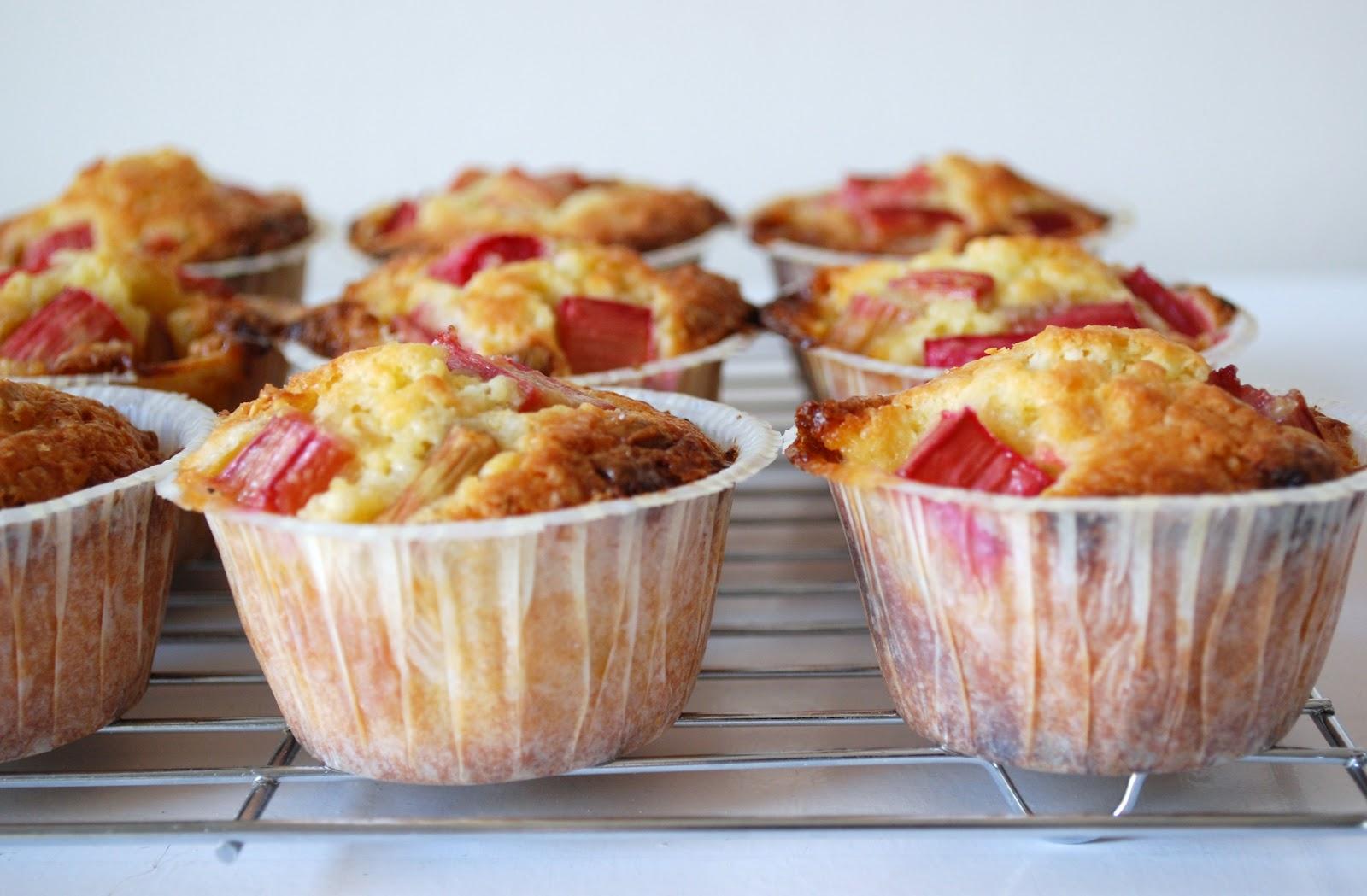 Erleperle Rabarber Muffins