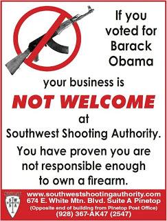 gunshop owner warns obama voters