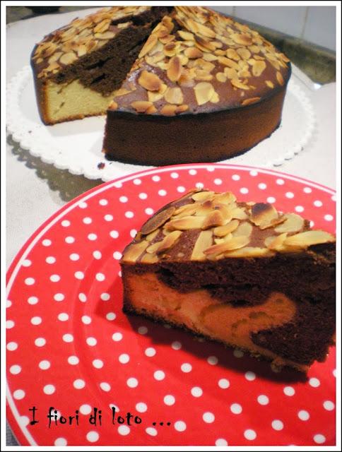 torta bicolore con la nocciolata rigoni (senza lievito)