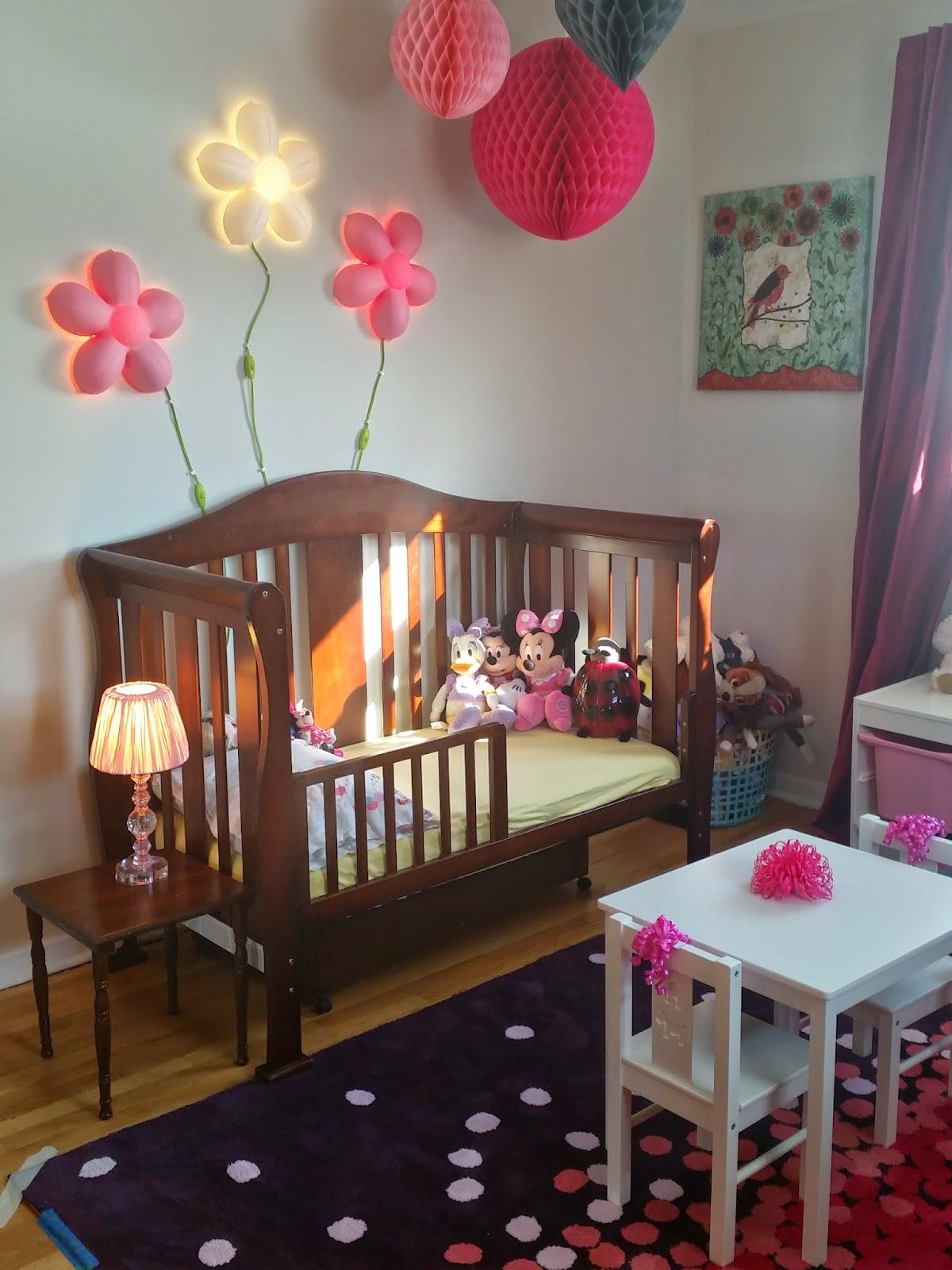 Ikea Smila Blomma Childrens Pink Flower Wall Light With Optional Light
