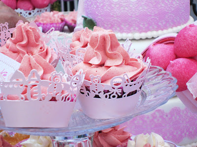 mesa dulce bautizo, cupcakes