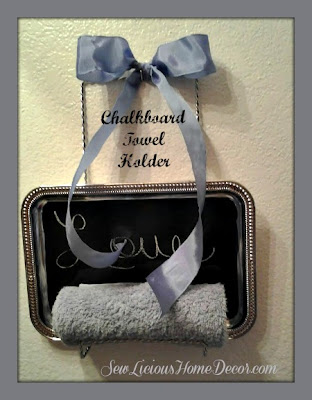 Chalkboard Towel Holder