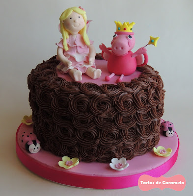 Tarta del hada buena y el hada Peppa Pig