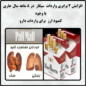 با وجود کمبود ارز برای واردات دارو 7 هزار تن سیگار وارد کشور شد!