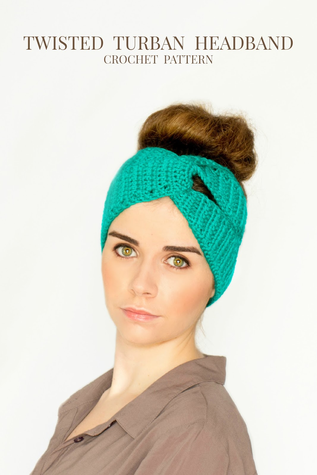 Twisted Turban Headband Crochet Pattern Hopeful Honey ...