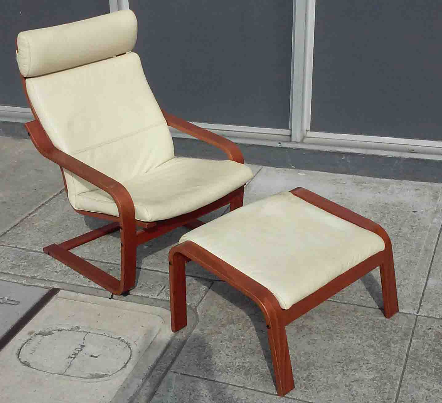 Ikea Trones Cipősszekreny Eladó ~ UHURU FURNITURE & COLLECTIBLES SOLD Poang Chair with Ottoman  $75