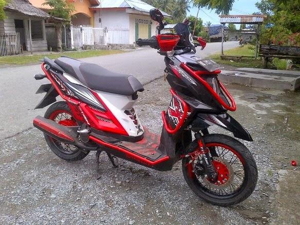 Modifikasi Motor Yamaha X Ride 2014