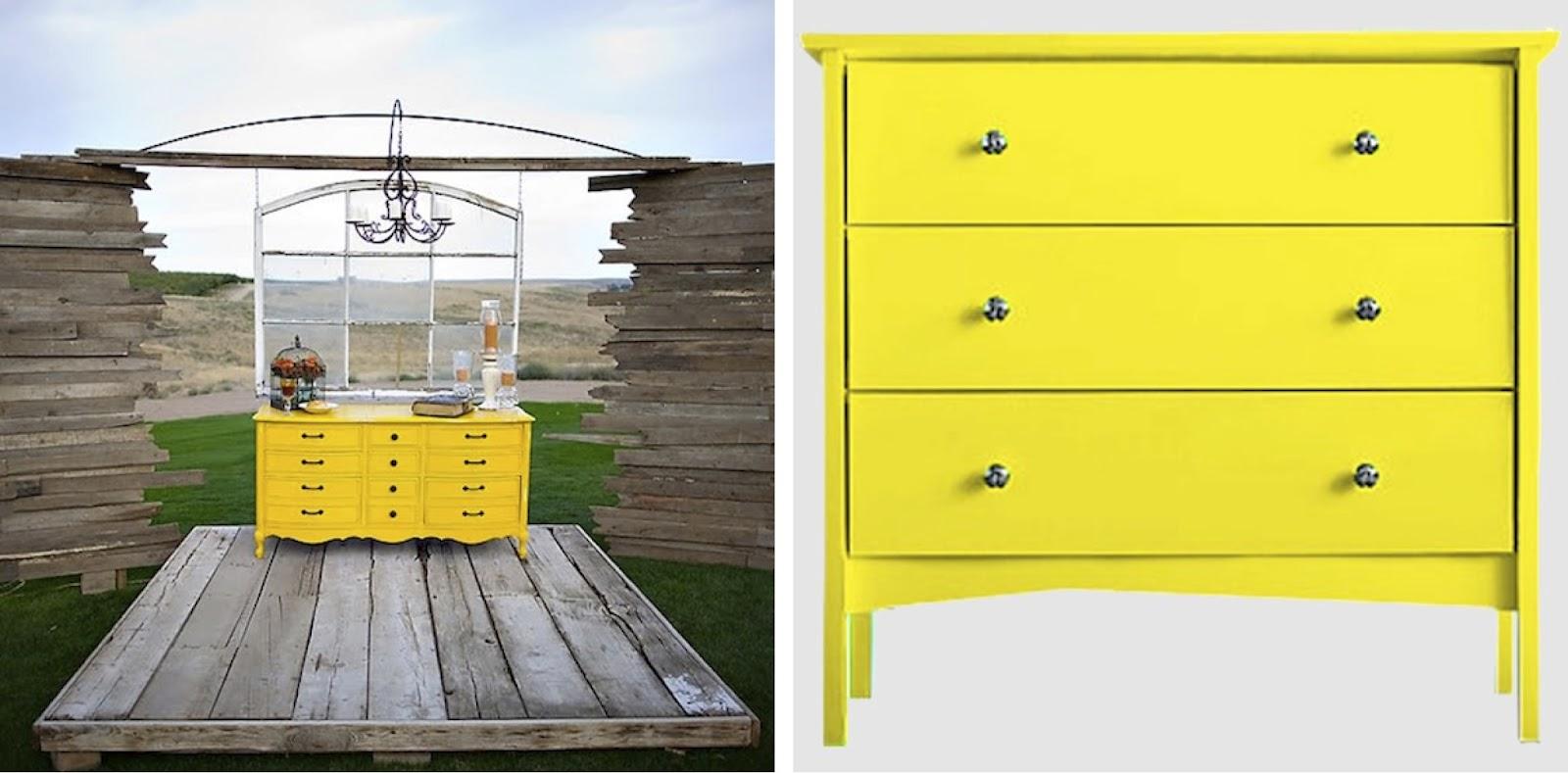 {BLACK WHITE YELLOW } Yellow Dressers