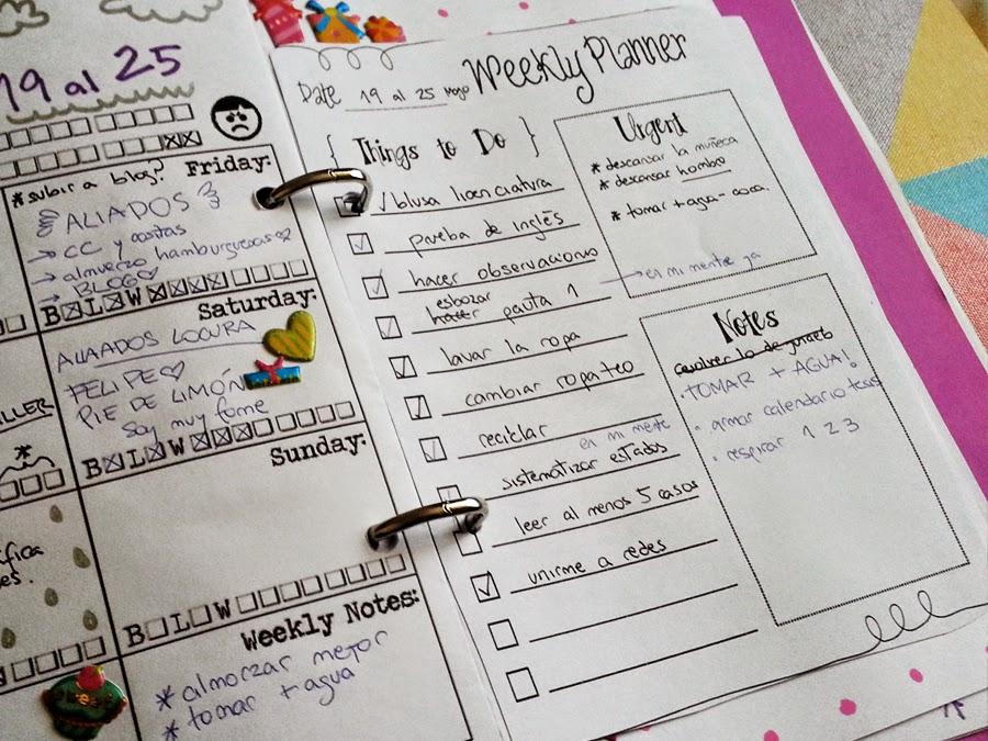 Para hacer: Organizador/Agenda desde cero (con imprimibles)