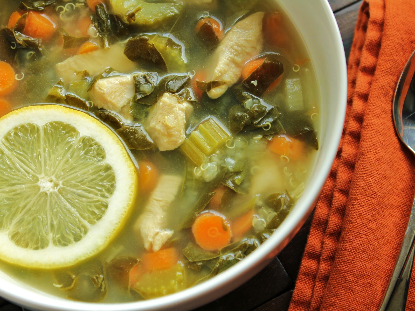 Delicious as it Looks: Lemon Chicken Soup with Quinoa