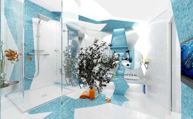 """Креативная ванная комната """"H2O in Geometry"""" от Gemelli Design"""