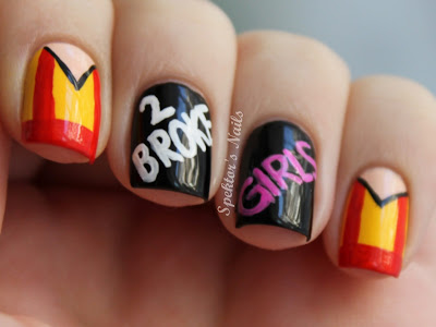 2 Broke Girls Nail Art