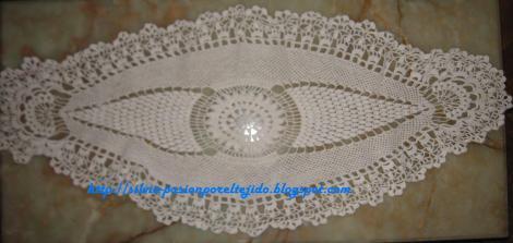Centros de mesa crochet imagui - Centro de mesa a crochet ovalado ...