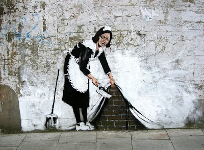 Banksy Graffiti, Maid Graffiti