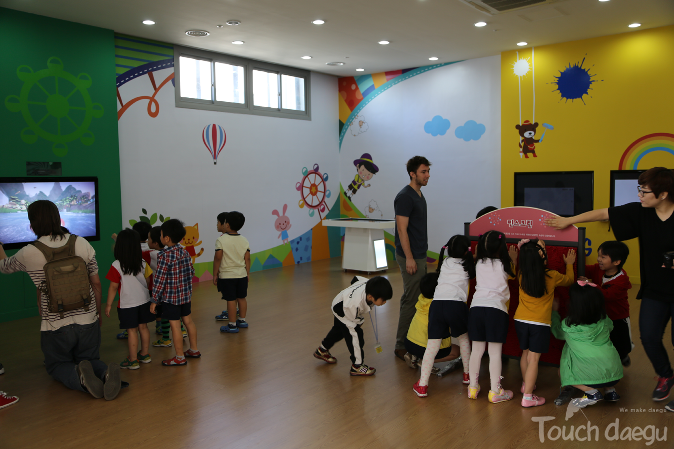 A variety of play equipment in Daegu Art Factory