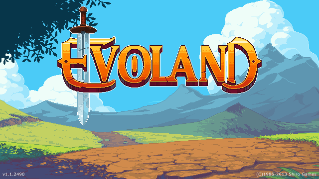 Evoland title screen logo
