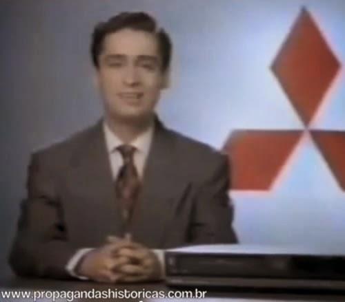 Propaganda do videocassete da Mitsubishi nos anos 80.