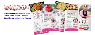 Rebecca's Recipes are Local Product Local Recipe Cards Available In Store NOW!