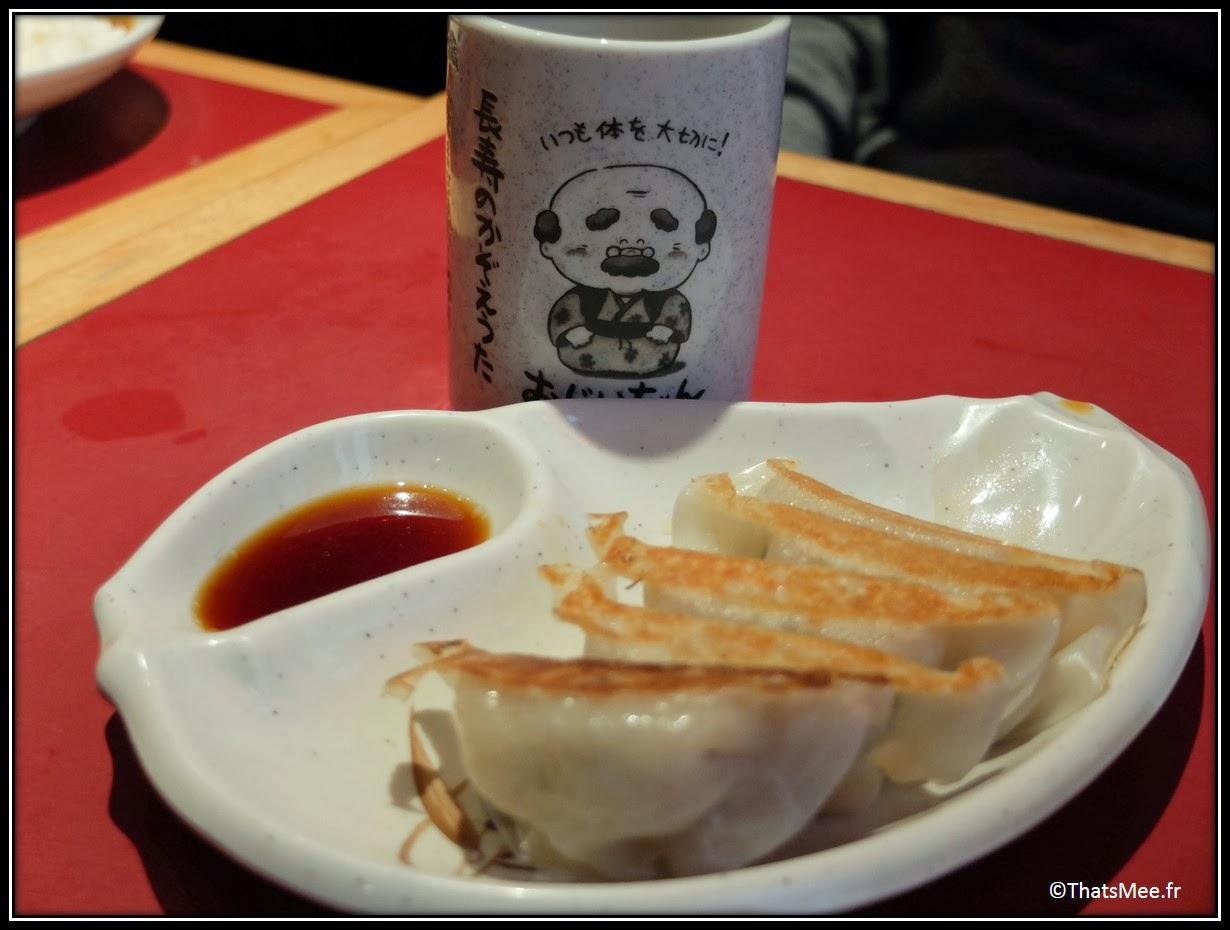 Resto Sapporo gyoza beignets frits rue Sainte Anne Paris, gastronomie plat traditionnel japonais