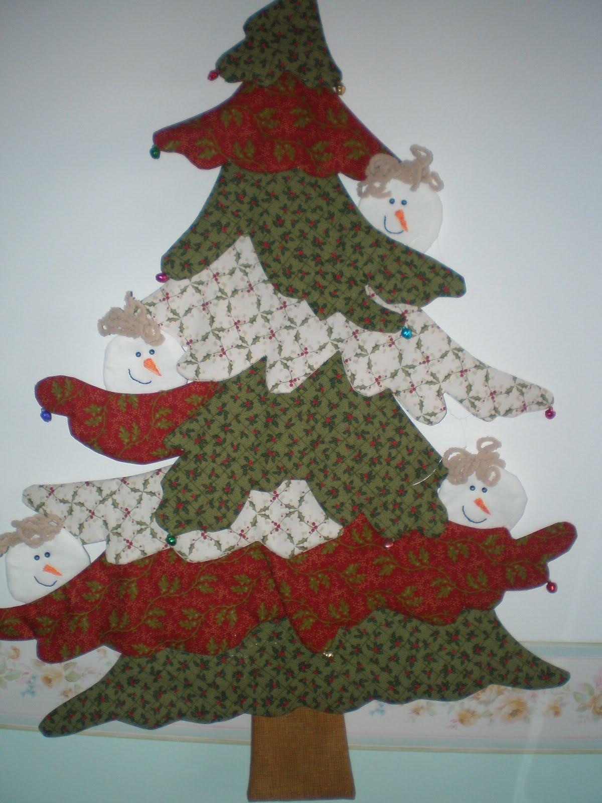 Recreo en patchwork segimos con las cosas de navidad - Arbol navidad tela ...