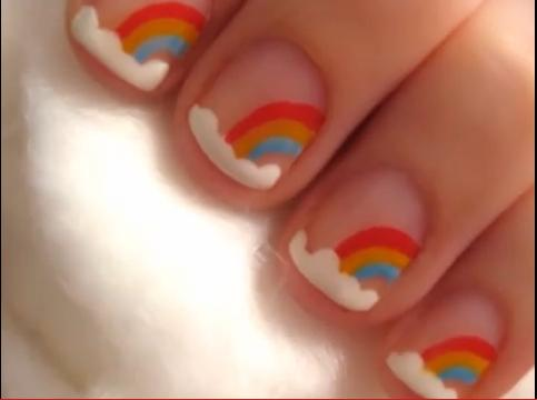 Colorful Nail Art Design for Short Nails : Everything About Fashion