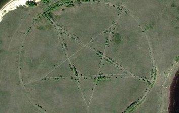 Símbolo satánico pentagrama