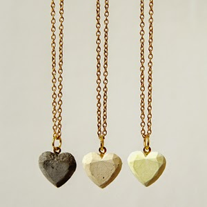DIY Concrete Heart Necklace