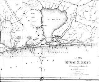 Mapa del antiguo Reino de Dahomey s. XIX