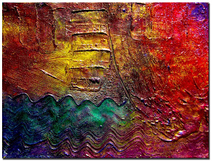 "Abstract Painting ""Deep Thoughts"" by Dora Woodrum"
