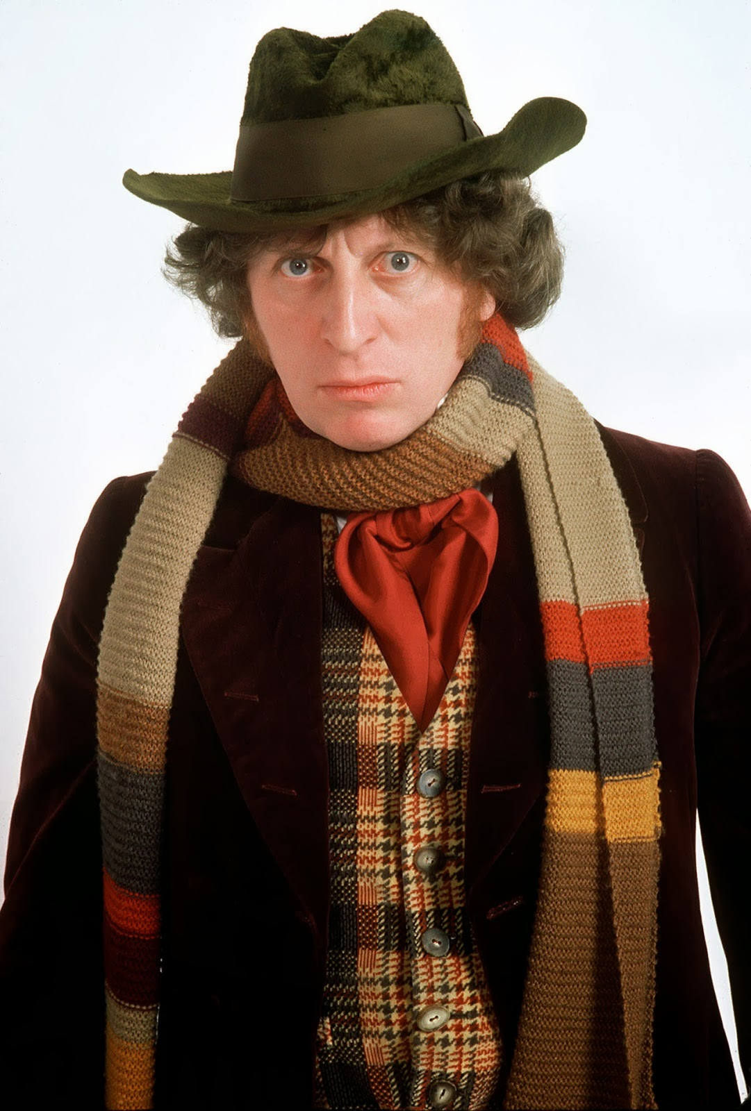 Tom Baker as the Fourth Doctor with his Scarf
