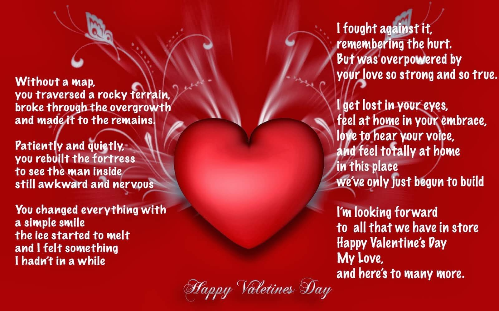 Romantic Valentines Day Poems For Him  Happy Valentines day