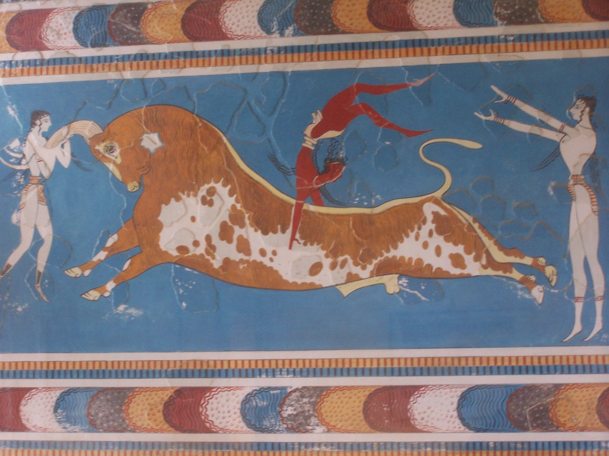 Equus quest greece crete and horses in ancient greek art for Ancient greek mural