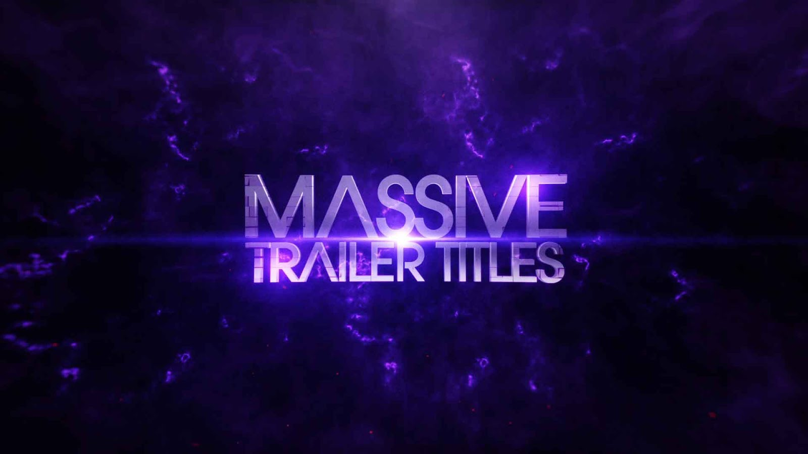 after effects template massive trailer titles
