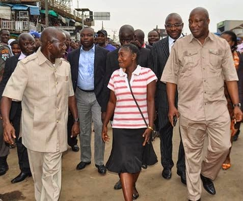 governor oshiomhole widow outing