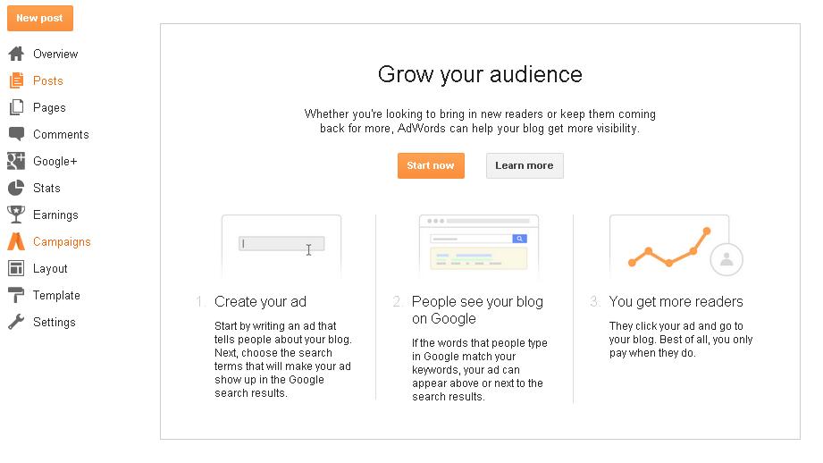 Fitur Baru Blogger 'Campaigns', Apa Itu Campaigns?