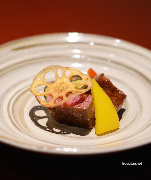 Kuroge Wagyu Steak with Japanese Seasonal Vegetable