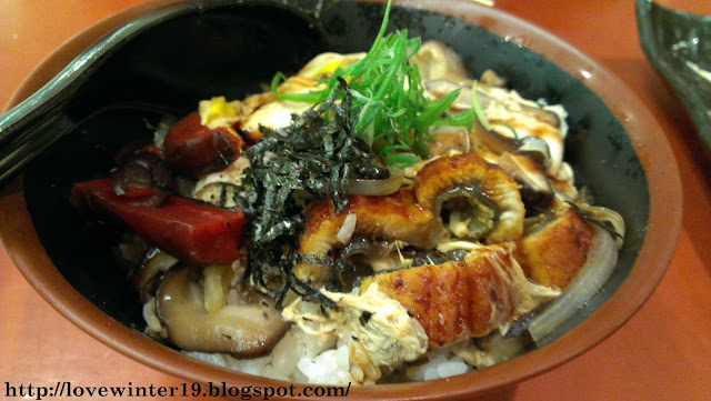 one utama, roasted eel, japanese cuisine