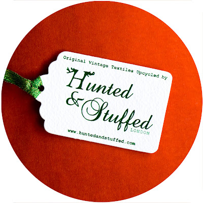 Orange Velvet and hand foiled tag by Hunted and Stuffed