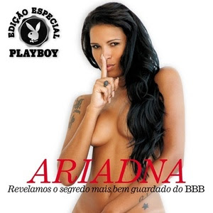 Ariadna pelada na Playboy