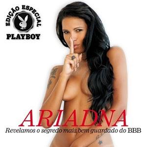 Ariadna pelada na Playboy