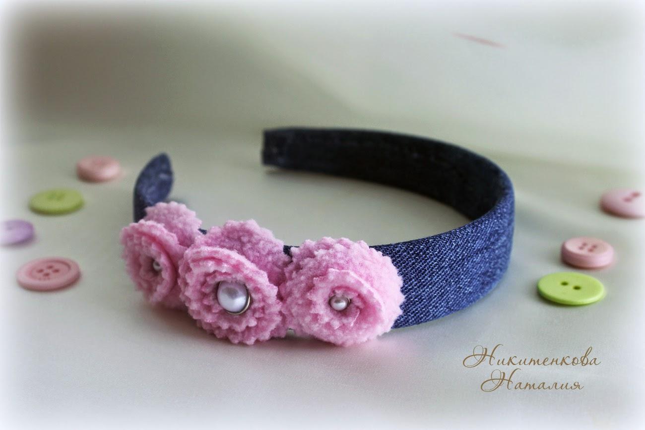 ободок, ободок с цветами для девочки
