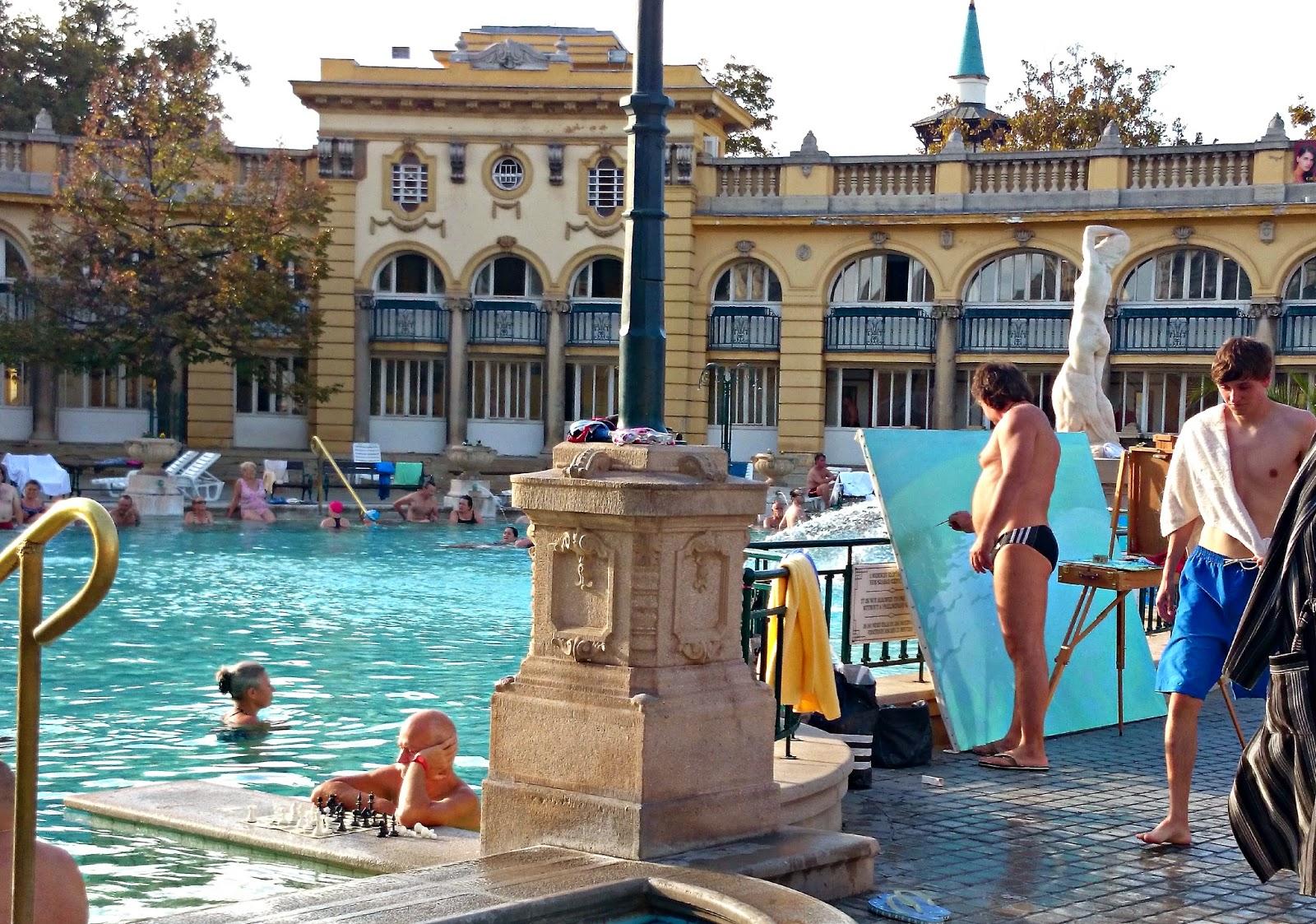 locals at szechenyi baths budapest