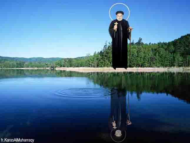 صور القديس أنبا أبرام من تصميم الراهب القمص كاراس المحرقي