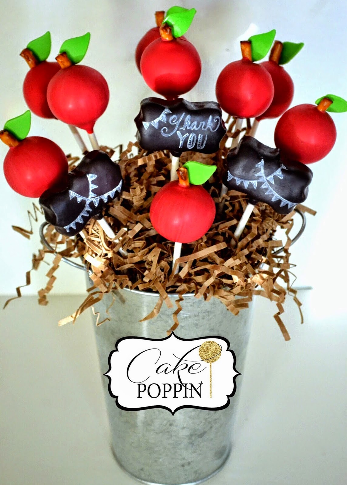 Fall means Back to School with these Apple Cake Pops.