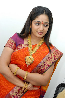 Kavya Madhavan Hot Saree Photos with Jewels